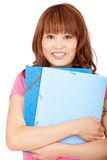 Female student with folders Stock Photography