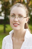 Female student in glasses Royalty Free Stock Photo