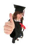 Female student graduating Royalty Free Stock Photos