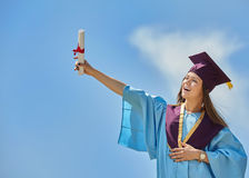 Female student graduation day Stock Photography