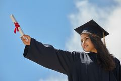 Female student graduation day Royalty Free Stock Photos