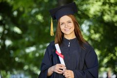 Female student graduation day Stock Photo