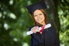 Female student graduation day Stock Images