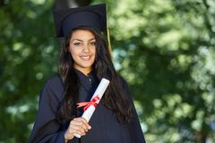 Female student graduation day Royalty Free Stock Image