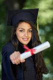 Female student graduation day Royalty Free Stock Images
