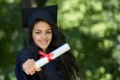 Female student graduation day Stock Photos