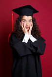 Female student in graduation gown Royalty Free Stock Images