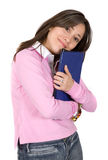 Female student happy with her studies Stock Images