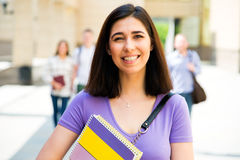 Female student with her friends Royalty Free Stock Images