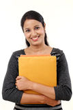 Female student holding books Royalty Free Stock Image