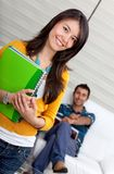 Female student at home Royalty Free Stock Photography