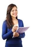 Female student isolated Stock Photo