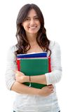 Female student isolated Royalty Free Stock Images