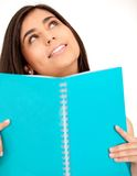 Female student isolated Royalty Free Stock Photo