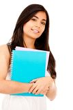 Female student isolated Stock Image