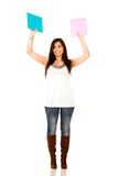 Female student isolated Royalty Free Stock Photography