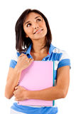 Female student isolated Stock Photo