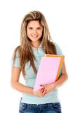 Female student isolated Royalty Free Stock Photos
