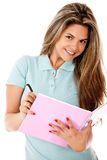Female student isolated Stock Photography