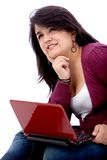 Female student on a laptop Royalty Free Stock Photo