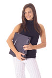 Female student with laptop Stock Images