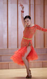 A female student  latin dancer Royalty Free Stock Photography