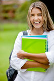 Female student laughing Royalty Free Stock Image