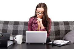 Female student learning Stock Image