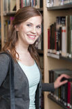 Female student in library Stock Image