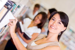 Female student at the library Stock Photography