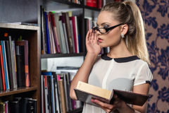 Female student at the library Stock Image