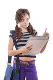 Female student with note pad Royalty Free Stock Photography