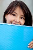 Female student with a notebook Royalty Free Stock Image