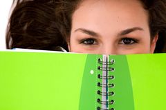 Female student with notebook Stock Photo