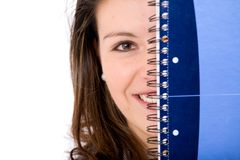 Female student with a notebook Royalty Free Stock Photography