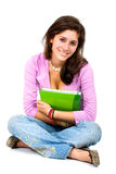Female student with a notebook Royalty Free Stock Photo