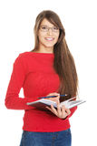 Female student with notebook. Royalty Free Stock Photo