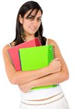 Female student - notebooks Stock Image
