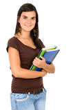 Female student with notebooks Stock Photography