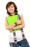 Female student with notebooks Royalty Free Stock Photography