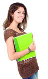 Female student with notebooks Royalty Free Stock Images