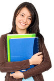 Female student with notebooks Royalty Free Stock Image