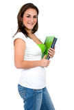 Female student with notebooks Stock Photos