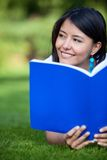 Female student outdoors Royalty Free Stock Photos
