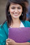 Female student outdoors Stock Photography