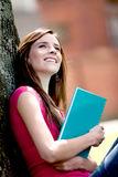Female student outdoors Royalty Free Stock Photography