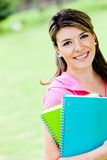 Female student outdoors Stock Image
