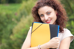 Female student in the park Stock Photography