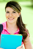 Female student at the park Stock Images