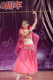 Female student perform indian dance Stock Images